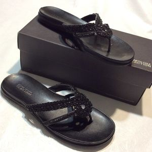 Kenneth Cole Reaction Black Ladies Sandals SZ 8.5